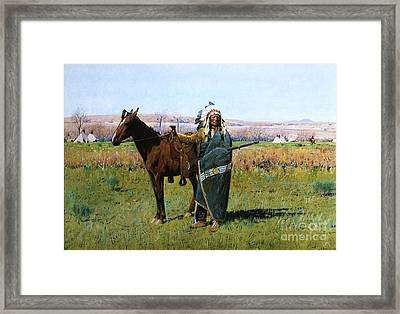 Chief Spotted Tail Framed Print by Pg Reproductions