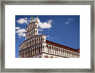 Chiesa San Michele In Lucca, Tuscany Framed Print by Brian Jannsen