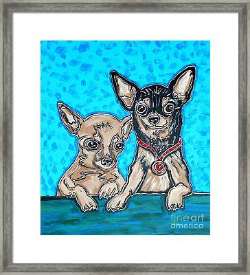 Chihuahua Duo Framed Print by Cynthia Snyder
