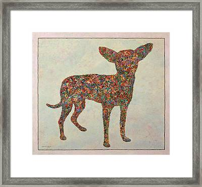 Chihuahua-shape Framed Print by James W Johnson