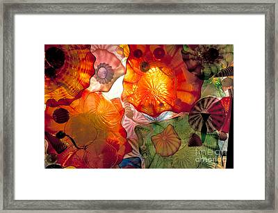 Chihulys Seaform Pavilion At Night Framed Print by Mark Newman