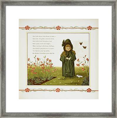 Child Among Flowers Framed Print by British Library