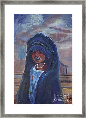 Child Bride Of The Sahara Framed Print by Avonelle Kelsey