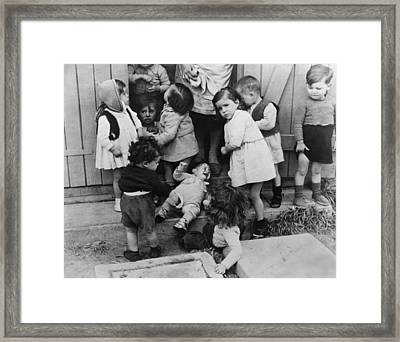 Child Inmates Of The Rivesaltes Framed Print by Everett