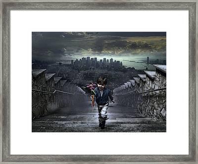 Child Of New York Framed Print by Joachim G Pinkawa