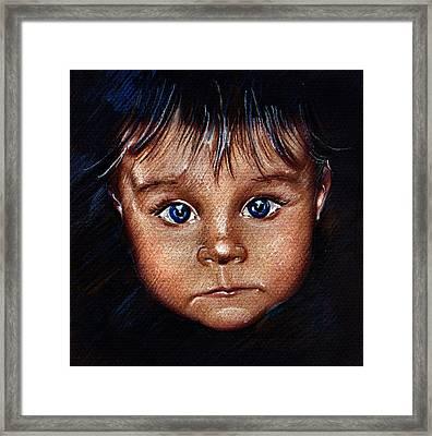 Child Portrait Framed Print by Daliana Pacuraru