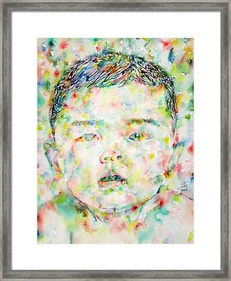 Child Portrait Framed Print by Fabrizio Cassetta