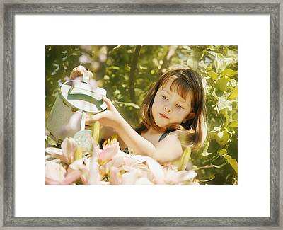 Child Waters Flowers Framed Print by Don Hammond