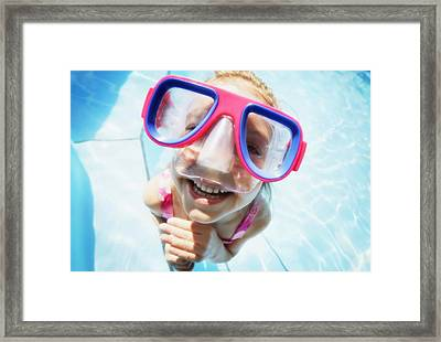 Child Wearing Goggles Framed Print by Don Hammond