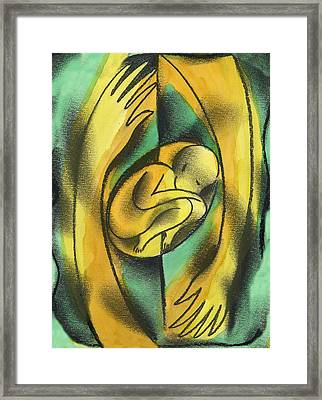 Childbirth Framed Print by Leon Zernitsky