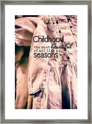 Childhood Framed Print by Bonnie Bruno