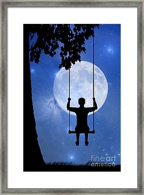 Childhood Dreams 2 The Swing Framed Print by John Edwards