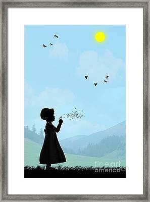 Childhood Dreams One O Clock Framed Print by John Edwards