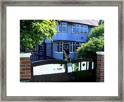 Childhood Home Of John Lennon Liverpool Uk Framed Print by Steve Kearns
