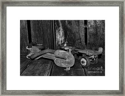 Childhood Memories In Black And White Framed Print by Paul Ward