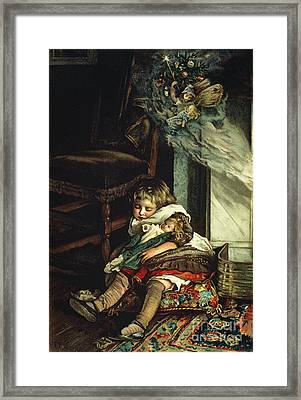 Children Dreaming Of Toys Framed Print by Lizzie Mack