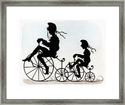 Children Riding Velocipedes Framed Print by Cci Archives