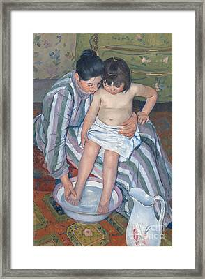 Child's Bath 1893 Framed Print by  Mary Stevenson Cassatt