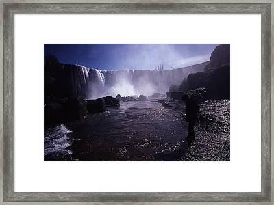 Chilean Waterfalls Framed Print by Thomas D McManus