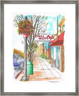 Chili Hut Cafe In Main Street - Santa Paula - California Framed Print by Carlos G Groppa