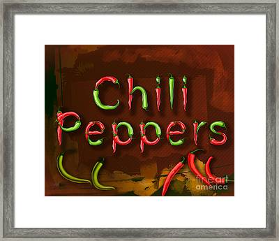 Chili Peppers Framed Print by Bedros Awak
