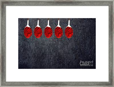 Chili Powder  Framed Print by Aimelle
