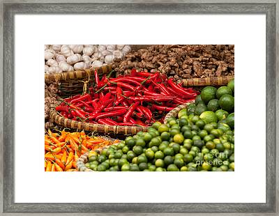 Chillies 01 Framed Print by Rick Piper Photography