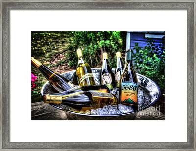 Chillin' Whites Framed Print by Bob Hislop