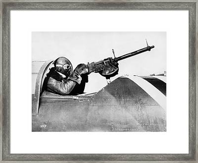 Chilly Army Air Corp Plane Framed Print by Underwood Archives