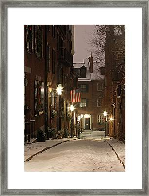 Chilly Boston Framed Print by Juergen Roth