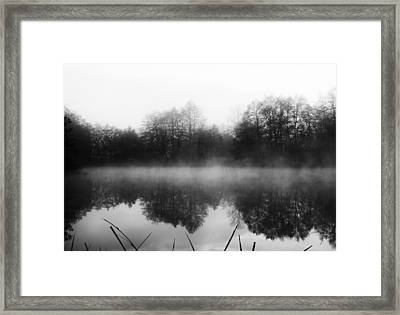 Chilly Morning Reflections Framed Print by Miguel Winterpacht