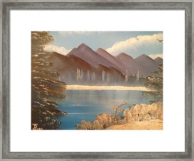 Chilly Mountain Lake Framed Print by Tim Blankenship