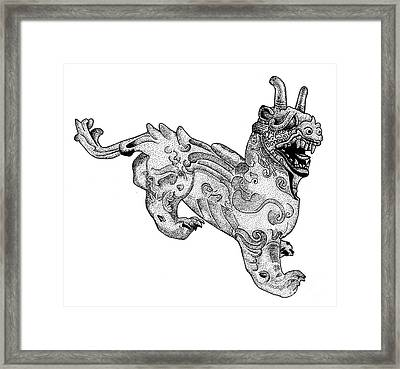 Chimera Framed Print by Photo Researchers