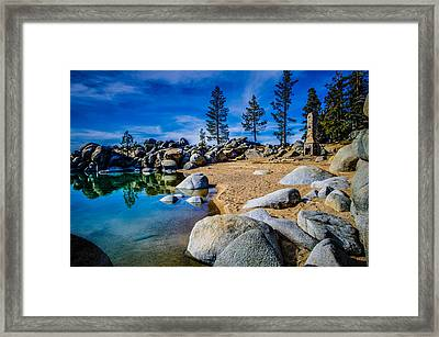 Chimney Beach Lake Tahoe Framed Print by Scott McGuire
