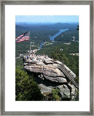 Chimney Rock Framed Print by Reid Callaway