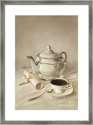 Tea Time Framed Print by Jaroslaw Blaminsky