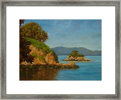 China Camp And Rat Island Framed Print by Steven Guy Bilodeau
