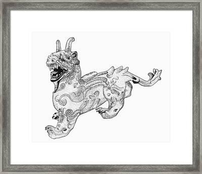 China Chimera Framed Print by Granger