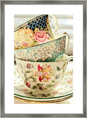 China Cups Framed Print by Colleen Kammerer