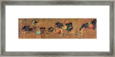 China Horse Riders Framed Print by Granger