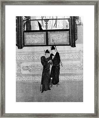 China Palace Attendants Framed Print by Granger