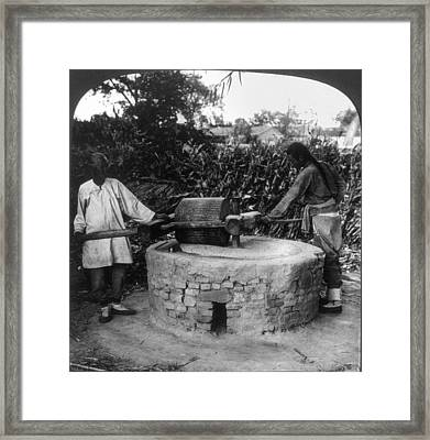 China Seed Grinding, C1907 Framed Print by Granger