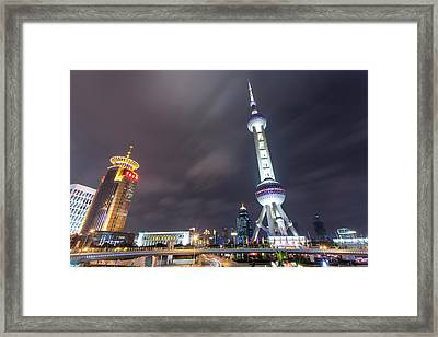 China, Shanghai, Oriental Pearl Radio Framed Print by Paul Souders