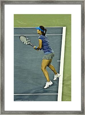China Tennis Star Li Na Framed Print by Rexford L Powell