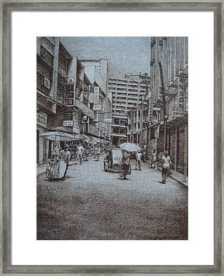 China Town Framed Print by Hezekiah Lopez