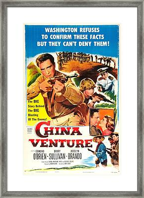 China Venture, Us Poster, Barry Framed Print by Everett