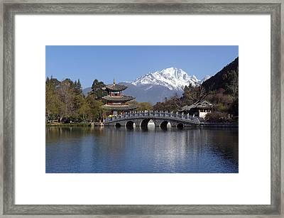 China, Yunnan, Lijiang, Black Dragon Framed Print by Tips Images