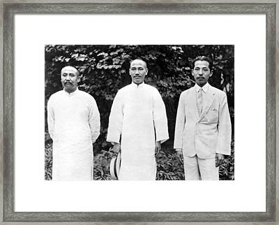 China's War Leaders Conference Framed Print by Underwood Archives
