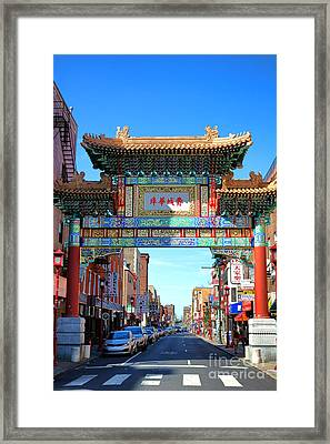 Chinatown Friendship Gate Framed Print by Olivier Le Queinec