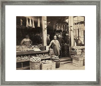 Chinatown Grocery Store Framed Print by Underwood Archives